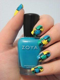 Patchwork nail art! *Faints* <3<3<3