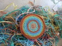 Washed beach ropes woven by Lois Walpole. Gloucestershire Resource Centre http://www.grcltd.org/scrapstore/