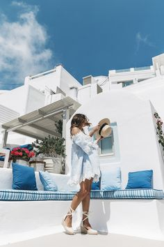 Blue_Dress-Soludos_Escapes-Soludos_Espadrilles-Canotier-Hat-Lack_Of_Color-Summer-Santorini-Collage_Vintage-25