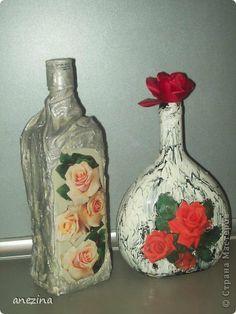 Itens de decoração Decoupage cracelures Krakelyurny garrafas de vidro experimento Glue Pintura Guardanapos foto 2