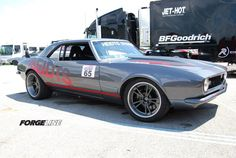 The latest project car from Heidts Hot Rod & Muscle Car Parts is this 1968 Camaro featuring a 550+ HP Kurt Urban Performance LS7, Heidts Pro-G front end, Heidts Pro-G IRS independent rear suspension, and Grip Equipped Lexington wheels finished with Graphite centers and Brushed outers. See more at: http://www.forgeline.com/customer_gallery_view.php?cvk=821