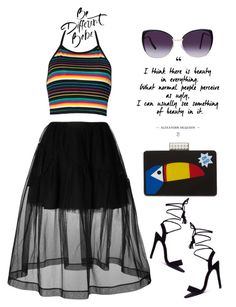 """Be Different Babe"" by latoyacl ❤ liked on Polyvore featuring Simone Rocha, Les Petits Joueurs and Eloquii"