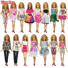 3pcs 3inch Dolls Toys Cute Kelly Dolls With Clothes Kids Gift Home Cake Decor sd