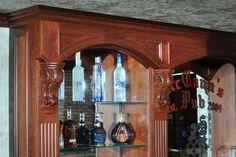 Basement pub style bar Bar Areas, Basement Ideas, Liquor Cabinet, Floors, Diy, Home Decor, Style, Home Tiles, Swag