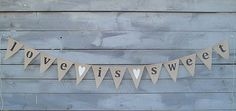 Items similar to Love is sweet burlap banner with fuchsia pink glittered hearts, lowercase on Etsy Ruby Wedding, Wedding Hire, Wedding Day, Wedding Bunting, Beach Wedding Decorations, Glitter Hearts, White Glitter, Burlap Bunting, May Weddings