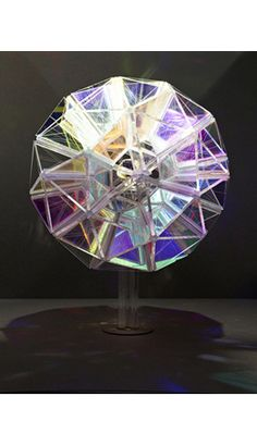 Optical kinetic display, radiant acrylic & 3D printed structure