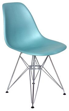 Eiffel-Style Slope Chair-Turquoise - midcentury - products - san francisco - Dot & Bo