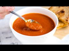 You only need three ingredients for this velvety, rich tomato soup recipe. This is your new favorite soup.