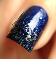 Shimmer Jenny gradient over F.U.N. Lacquer Starry Night of the Summer