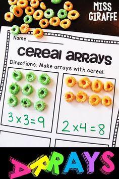 3rd Grade Activities, Multiplication Activities, Fun Math Activities, Array Multiplication, Repeated Addition Multiplication, 3rd Grade Math Worksheets, Addition Activities, Math Addition, Repeated Addition Worksheets