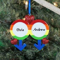 Personalized Alternative Lifestyle Gay Pride Christmas Ornament