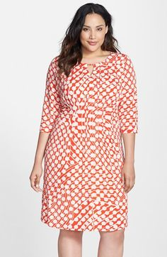 Tahari+Keyhole+Neck+Matte+Jersey+Dress+(Plus+Size)+available+at+#Nordstrom