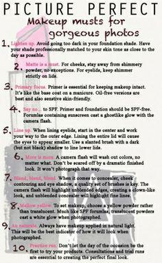 makeup tips for photos by gabrielle.farache
