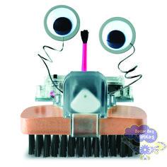Robô Escova, Robô Escova 4m, 4m brinquedos, brinquedos educativos, brinquedos pedagógicos, brinquedos ecológicos, kit ciencias, construa seu robo, kit robo