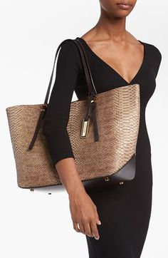 Michael Kors 'Gia' Python Embossed Leather Tote, Large | Nordstrom