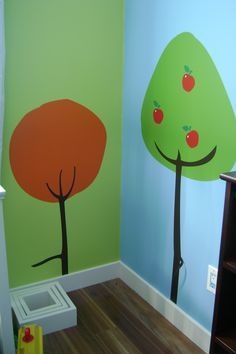 Wall Decal: I did 3 trees for this very cute forest inspired nursery.