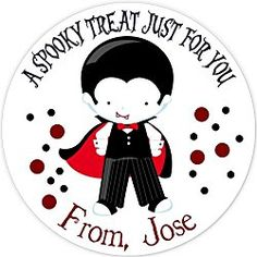 40 labels Circle Halloween Vampire kid Party Stickers, Personalized Labels, Custom Party Favor Tags, Choice of Size Halloween Labels, Halloween Stickers, Halloween Treats, Halloween Fun, Vampire Kids, Halloween Vampire, Dinosaur Party Favors, Dinosaur Birthday, Monster Treats