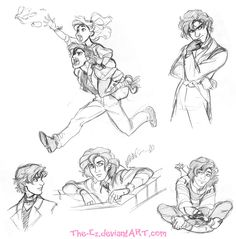 Awkward Gangfield Sketches - April 2015 by The-Ez on DeviantArt
