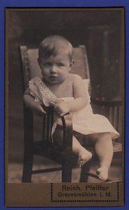 Vintage cabinet photo of German baby boy