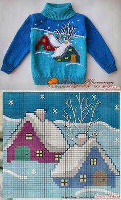 Diy Crafts Knitting For Children Orgu Child Diy 631278072753486759 P Kids Knitting Patterns, Baby Sweater Knitting Pattern, Knitting Charts, Knitting For Kids, Knitting Designs, Knitting Stitches, Free Knitting, Crochet Patterns, Knitting Sweaters