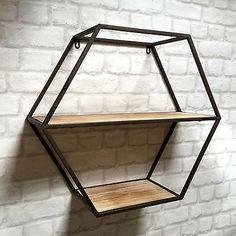 Vintage Industrial Style Metal Wall Shelf Unit Storage Cupboard Cabinet Rack