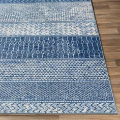 Shop Lovato Bohemian Block Print Area Rug - On Sale - Overstock - 26637088 - x - Navy Area Rugs For Sale, Rug Sale, Accent Rugs, Accent Decor, Wood Stair Treads, Polypropylene Rugs, Area Rug Sizes, Blue Bedding, Indoor Rugs