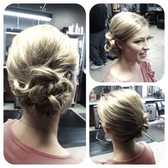@Leslie Riemen Chandler, this would be a pretty hair style for Prom