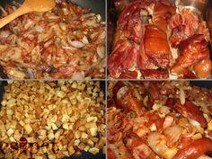 Sült füstölt csülök Pork Hock, Beef, Meals, Chicken, Food, Meat, Ham Hock, Meal, Eten