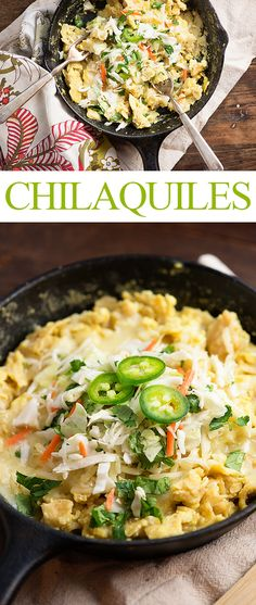 These chilaquiles are a great breakfast for dinner recipe! We love how easy they are!