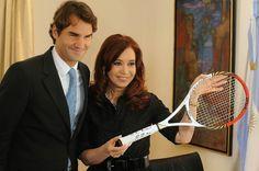 La Presidenta Cristina Fernandez de Kirchner mantuvo un encuentro con el tenista suizo Roger Federer en la Residencia Presidencial de Olivos.