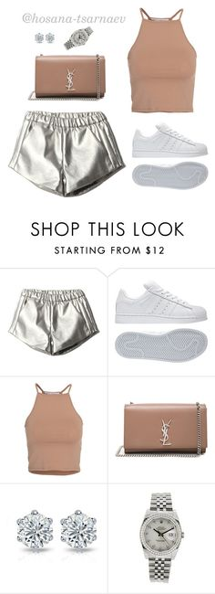 """Everybody Wants To Rule The World"" by hosana-tsarnaev ❤ liked on Polyvore featuring adidas, NLY Trend, Yves Saint Laurent, Rolex and yvessaintlaurent"
