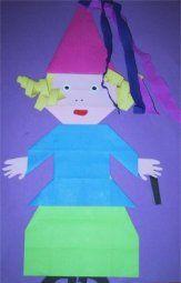 Carnaval platte vlak knutselen » Juf Sanne Origami, Fairy Tales, Winter, Outdoor Decor, Theater, Crafts, Learning, Mardi Gras, Paper