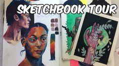 SKETCHBOOK TOUR (gouache and watercolor)