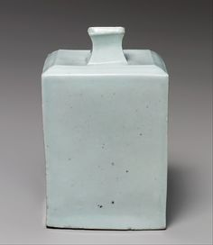 Square bottle Period: Joseon dynasty (1392–1910) Date: first half of the 19th century Culture: Korea Medium: Porcelain