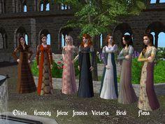 Image Types Of Lace, Tartan Kilt, Model One, Renaissance Fashion, Everyday Dresses, Sims 2, Italian Style, Simple Style, Cas
