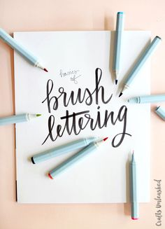 Today I am really excited to share a few tips and tricks about brush hand lettering, which is one of my favorite creative outlets! Follow along to see more.