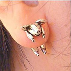 Little piggy earrings! I need these pronto ♥