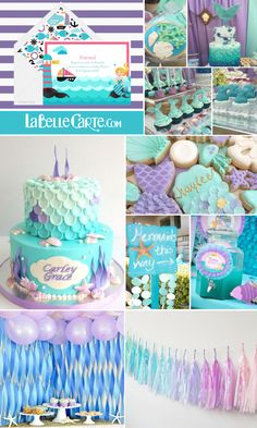 Invitaciones para Baby Shower, Invitaciones de Baby shower, Fiesta de sirenas, Baby Shower de sirenas