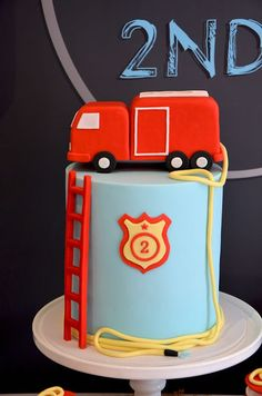 Fire Truck Party cake!