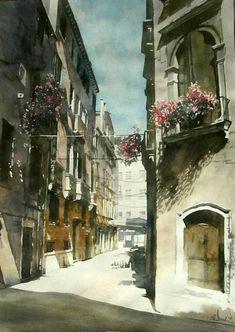 Paul Dmoch _ 2008_Les-ombres-de-la-ruelle,-Venise,-Italie