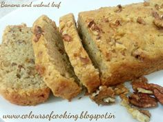 Banana and walnut loaf eggless. Its a tea time cake. Rich with the flavour of banana and walnut. Healthy snack for kids and adults!