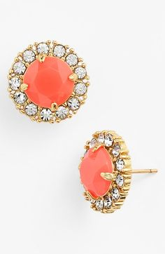 Free shipping and returns on kate spade new york 'secret garden' stud earrings at Nordstrom.com. Tiny rhinestones encircling a faceted center stone lend delicate sparkle to stud earrings.
