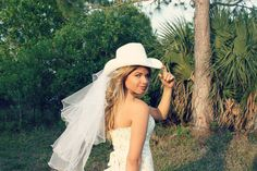 Western wedding-cowgirl wedding-white cowgirl hat-cowgirl bachelorette-rustic wedding-Bridal cowgirl hat