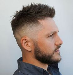 Spiky Faded Haircut Getting a mens fade haircut means Latest Short Haircuts, Short Spiky Hairstyles, Short Haircut Styles, Cool Hairstyles For Men, Boy Hairstyles, Short Hair Cuts, Casual Hairstyles, Men's Hairstyle, Pixie Haircuts