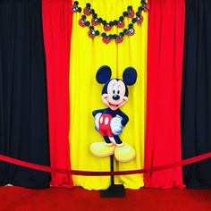 Mickey Mouse centerpiece , Mickey Mouse theme party / kids party , candy table / sweets table , backdrops , photo stations , pictures , cutouts ,