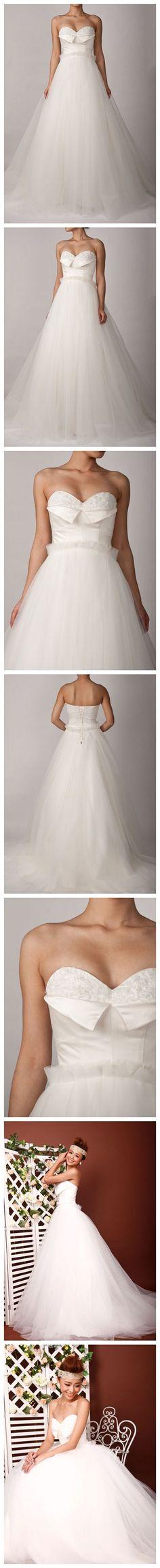 Sweetheart Lapel Neckline Ruffle Waist Wedding Dress