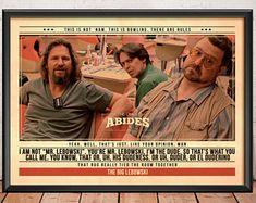 The Big Lebowski Poster - citaat Retro filmposter - Movie Print, gewenst, Wall Art, Coen Brothers afdrukken