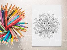 Mandala Doodle, Printable Adult Coloring Pages, Leaf Drawing, Feather, Doodles, Printables, Awesome, Unique Jewelry, Handmade Gifts