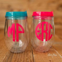 Personalized Bev2go adult wine cup. Double wall by forposhsake