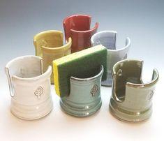 NEW Sponge Cup, Ceramic Sponge Holder, Color options), Mail Organizer, Napkin Holder Slab Pottery, Ceramic Pottery, Pottery Art, Pottery Tools, Pottery Gifts, Handmade Pottery, Ceramic Cups, Ceramic Art, Toothpaste Holder